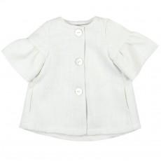 Пальто белое для девочки Boboli 707183 1 год