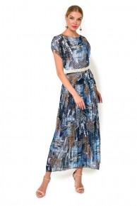 Платье с нижней сорочкой из шифона Caterina Leman Su 1080 A Ha 9951