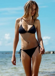 Melissa Odabash MALDIVES BLACK Bikini Купальник раздельный Черный