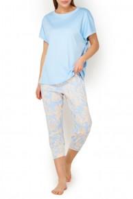 Пижама женская хлопковая с капри Mey Eliana 13079