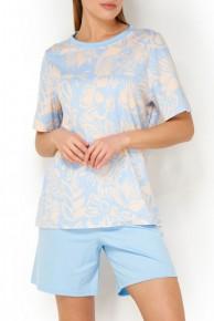 Пижама женская хлопковая с шортами  Mey Eliana 13084