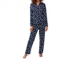 Пижама женская длинная Mey Yule Синий 14002
