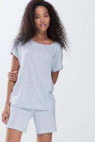 Футболка женская домашняя Mey 16634 Serie Milena Short-Sleeved Shirt Голубой
