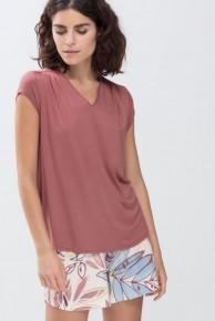 Футболка женская домашняя Mey 16652 Serie Alena Short-Sleeved Shirt Винный