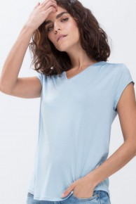 Футболка женская домашняя Mey 16652 Serie Alena Short-Sleeved Shirt Голубой