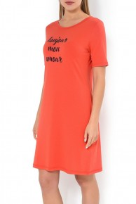 Женское домашнее платье Mey 16828 Красное